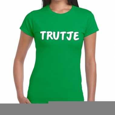 Groentrutje shirt voor dames