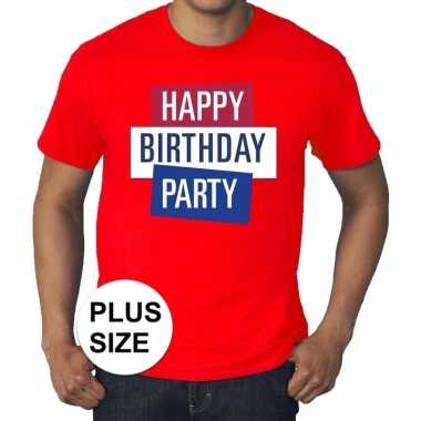 Grote maten officieel toppers in concert happy birthday party t-shirt