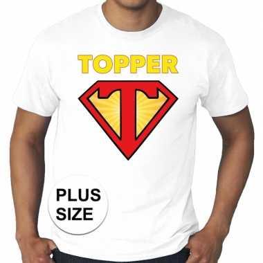 Grote maten t- shirt super topper heren wit