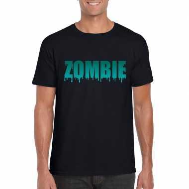Halloween zombie shirt zwart heren 10122342