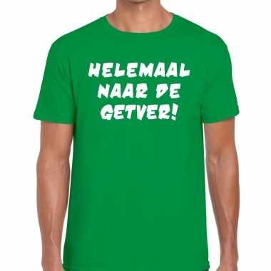 Helemaal naar de getver fun t-shirt groen voor heren