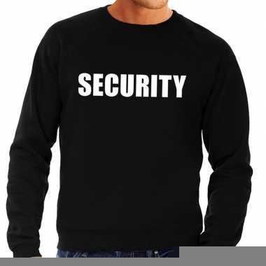 Heren fun text sweater security zwart