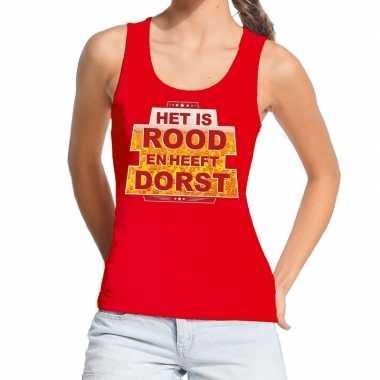 Het is rood en heeft dorst tanktop / mouwloos shirt rood dames