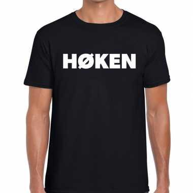 Hoken zwarte cross t-shirt zwart voor heren