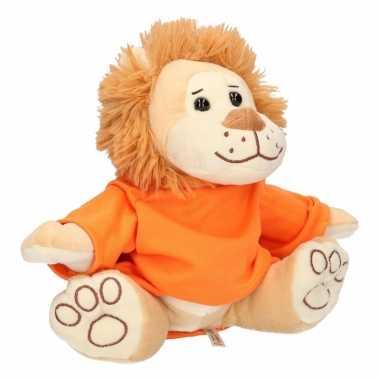 Holland leeuw dierenknuffel 30 cm met-shirt