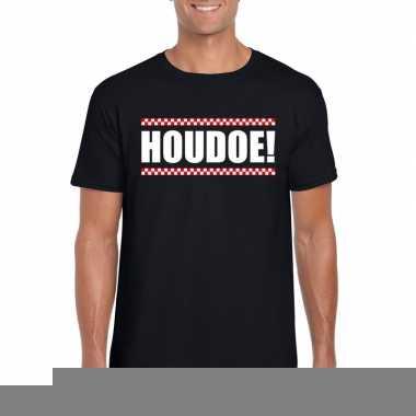 Houdoe fun t-shirt voor heren zwart