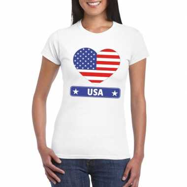 I love amerika/ usa t-shirt wit dames
