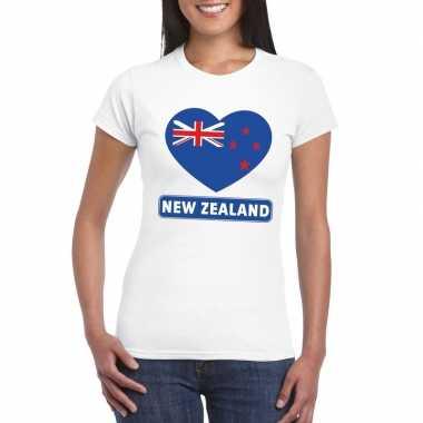 I love nieuw zeeland t-shirt wit dames