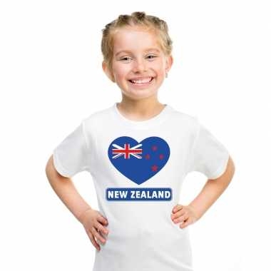 I love nieuw zeeland t-shirt wit kinderen