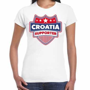 Kroatie / croatia supporter t-shirt wit voor dames