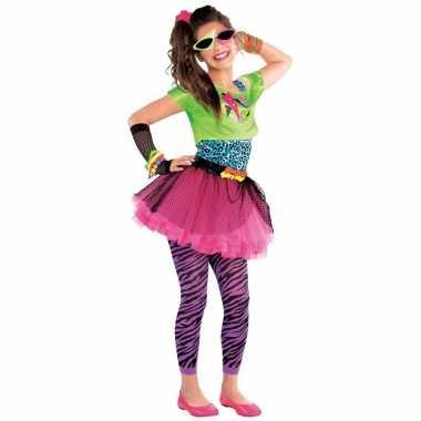 Madonna jaren 80 kostuum feestkleding voor meisjes 10-12 jaar