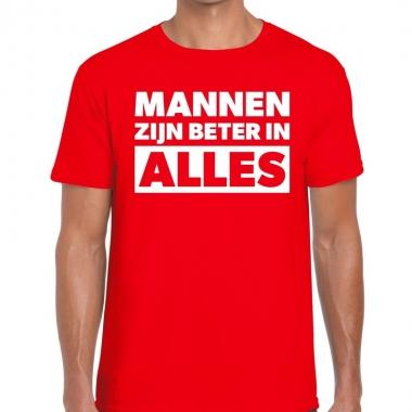 Mannen zijn beter in alles fun t-shirt rood voor heren