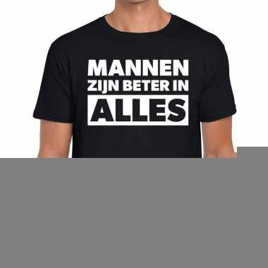 Mannen zijn beter in alles fun t-shirt zwart voor heren