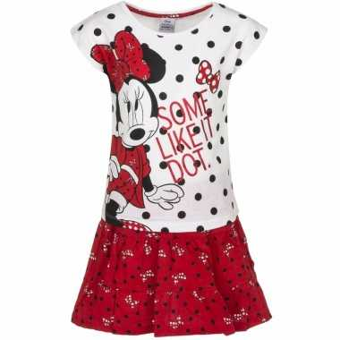 Minnie mouse rokje met wit t-shirt