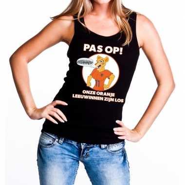 Nederlands dames elftal supporter hemd pas op leeuwinnen oranje hemd