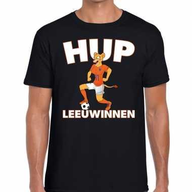 Nederlands dames elftal supporter shirt hup leeuwinnen zwart voor her