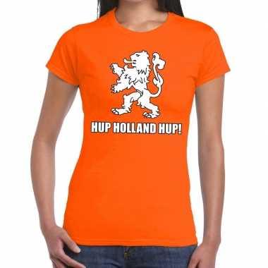 Nederlands elftal supporter shirt hup holland hup oranje voor dames