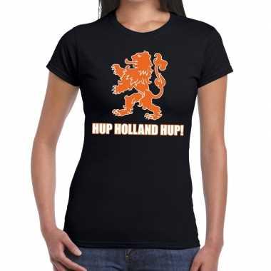 Nederlands elftal supporter shirt hup holland hup zwart voor dames