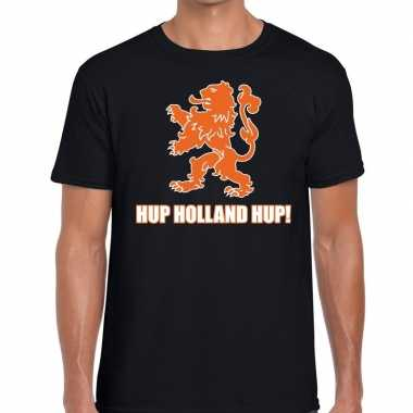 Nederlands elftal supporter shirt hup holland hup zwart voor heren