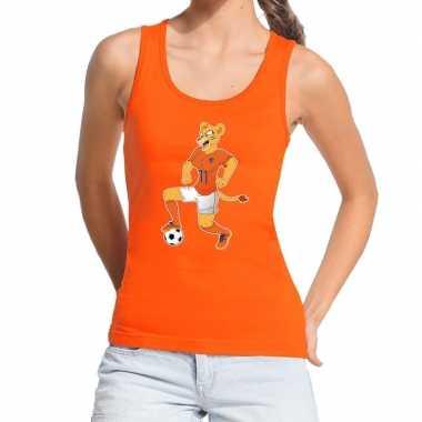 Nederlands elftal supporter tanktop / mouwloos shirt leeuwinnen met b