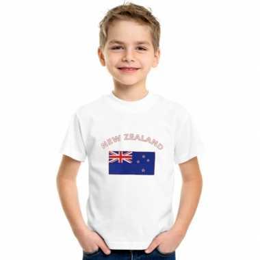 Nieuws Zeelands vlaggen t-shirt voor kinderen