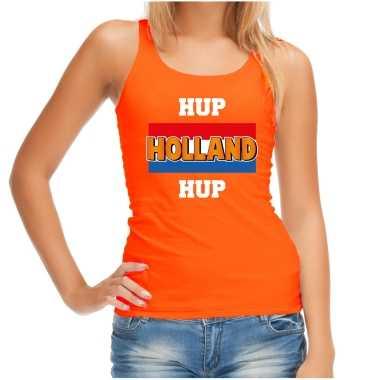 Oranje fan tanktop / kleding holland hup holland hup ek/ wk voor dames