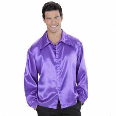 Paarse blouse van satijn