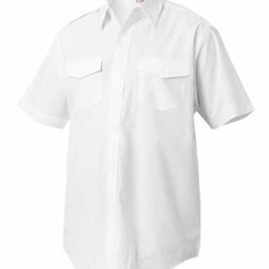 Piloten shirt met korte mouwen