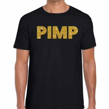 Pimp fun t-shirt zwart voor heren