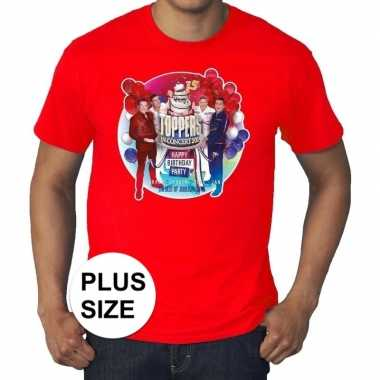 Plus size officieel toppers in concert 2019 t-shirt rood eren