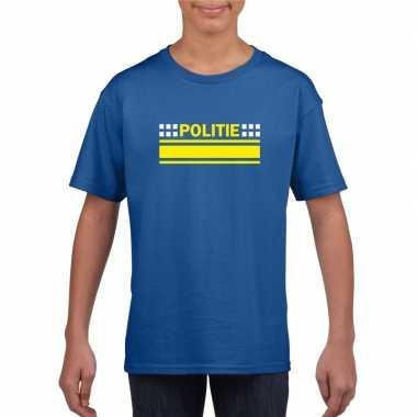 Politieagent shirt blauw voor kinderen