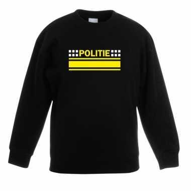 Politieagent sweater / trui zwart voor kinderen