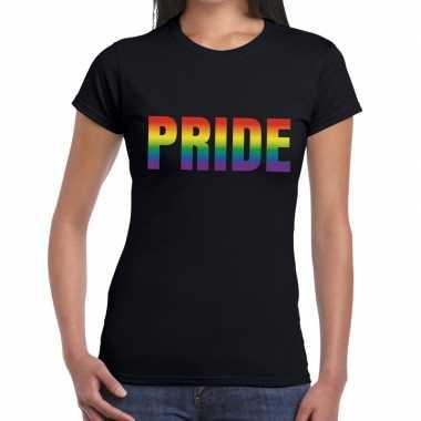 Pride shirt gaypride zwart dames