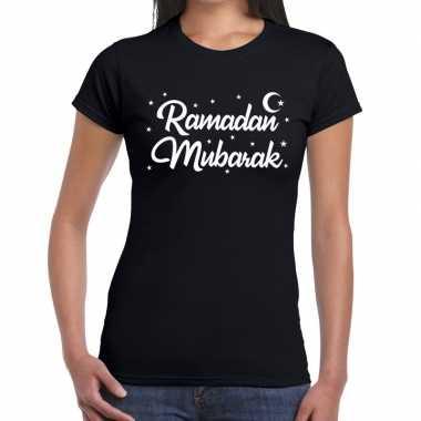 Ramadan shirt ramadan mubarak zwart voor dames