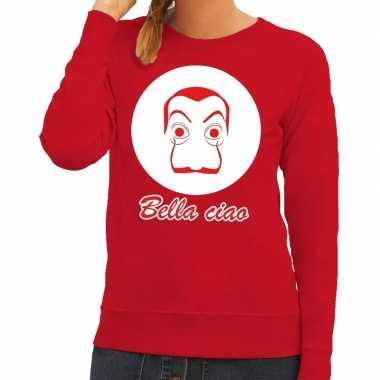 Rode bankovervaller trui voor dames