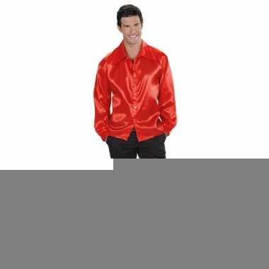 Rood 70s shirt voor heren
