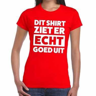 Rood feest t-shirt dit shirt ziet er echt goed uit rood voor dames