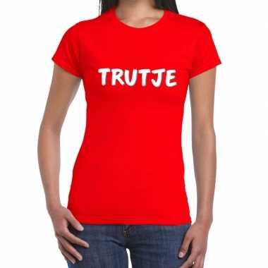 Rood t-shirt trutje voor dames