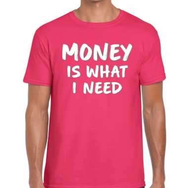 Roze money is what i need shirt voor heren