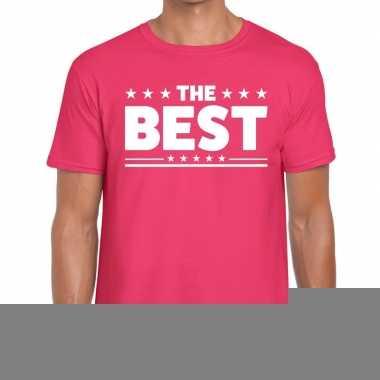 Roze the best fun t-shirt voor heren