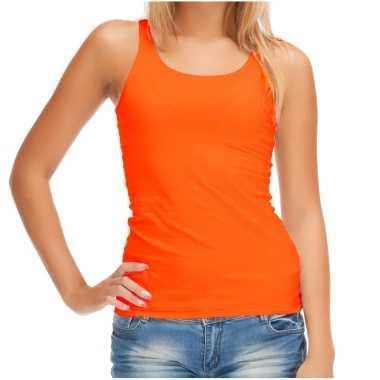 Sols tanktop / mouwloos t-shirt / singlet oranje supporter / koningsdag voor dames