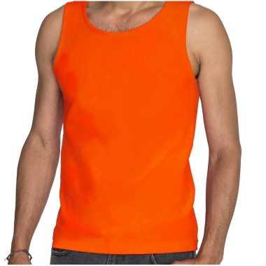 Sols tanktop / mouwloos t-shirt / singlet oranje supporter / koningsdag voor heren
