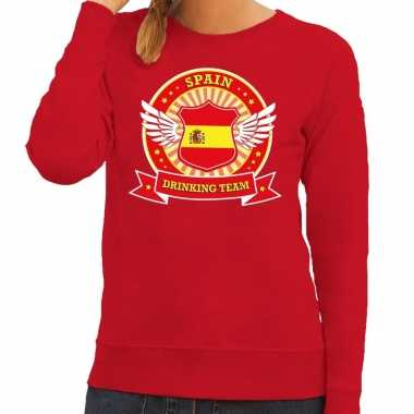 Spain drinking team sweater rood dames