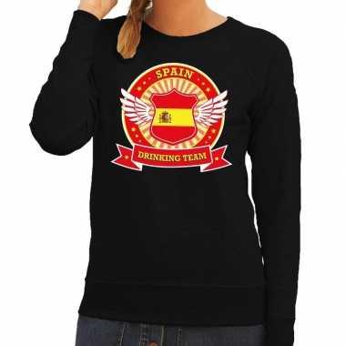 Spain drinking team sweater zwart dames