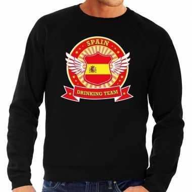 Spain drinking team sweater zwart heren