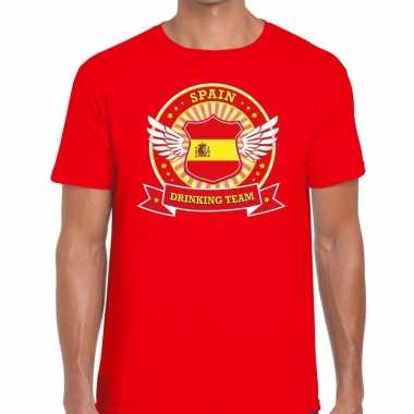 Spain drinking team t-shirt rood heren