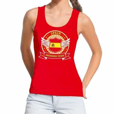 Spain drinking team tanktop / mouwloos shirt rood dames