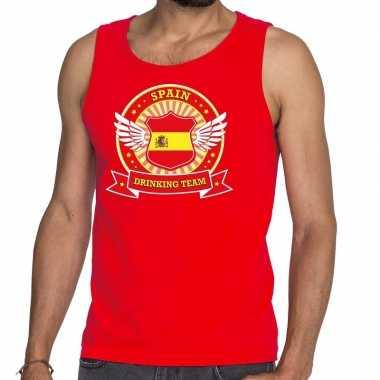 Spain drinking team tanktop / mouwloos shirt rood heren