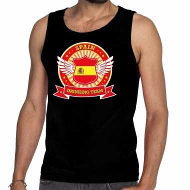 Spain drinking team tanktop / mouwloos shirt zwart heren