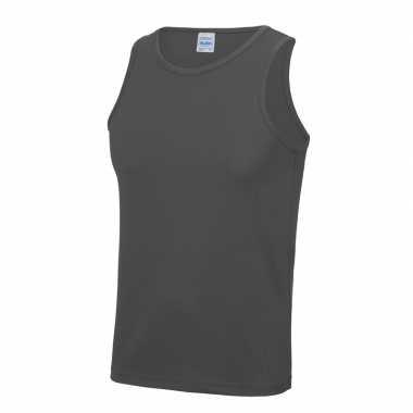 Sportkleding sneldrogend grijze heren hemd